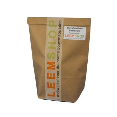 Tierrafino Base Basisleem, ROOD en droog met stro, proefverpakking
