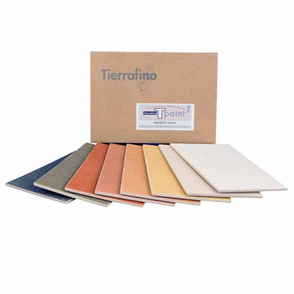 Tierrafino T-Paint Leemverf Structuur Kleurstalen